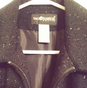 SAG HARBOR petite Black blazer. Size16